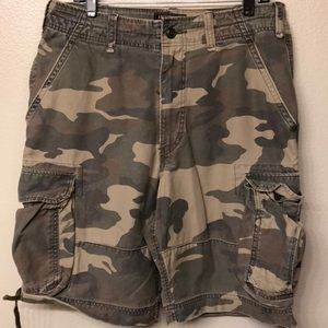 abercrombie and fitch vintage fatigues shorts 32